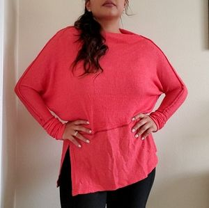 Free People we the Free Coral Long sleeve top XS